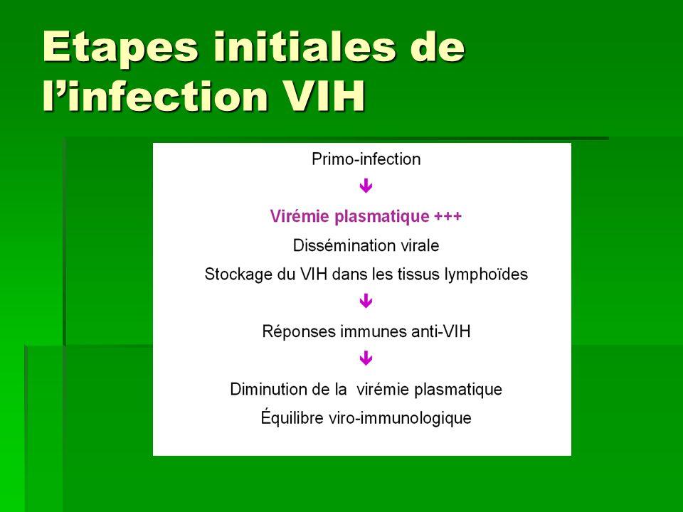 Les définitions Définition de la séropositivité VIH Définition de la séropositivité VIH Toute personne porteuse danticorps anti-VIH Toute personne porteuse danticorps anti-VIH Cas particulier des enfants nés de mère séropositive Cas particulier des enfants nés de mère séropositive Transmission passive des anticorps Transmission passive des anticorps Définition du SIDA Définition du SIDA Ensemble de pathologies secondaires à un état de déficit immunitaire en rapport avec le virus de limmunodéficience humaine.