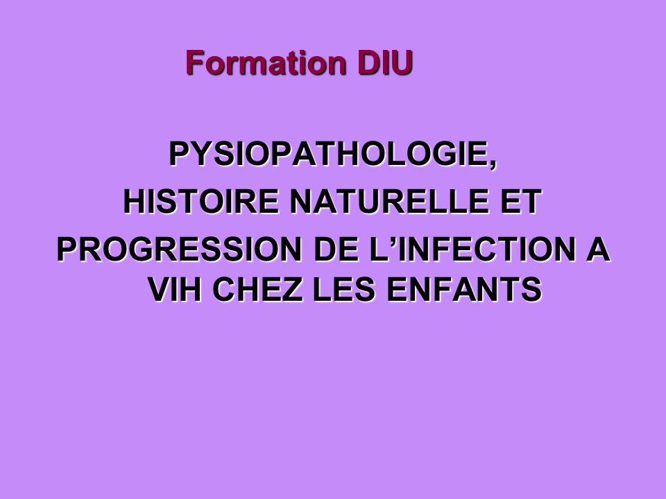 Formation DIU PYSIOPATHOLOGIE, HISTOIRE NATURELLE ET PROGRESSION DE LINFECTION A VIH CHEZ LES ENFANTS