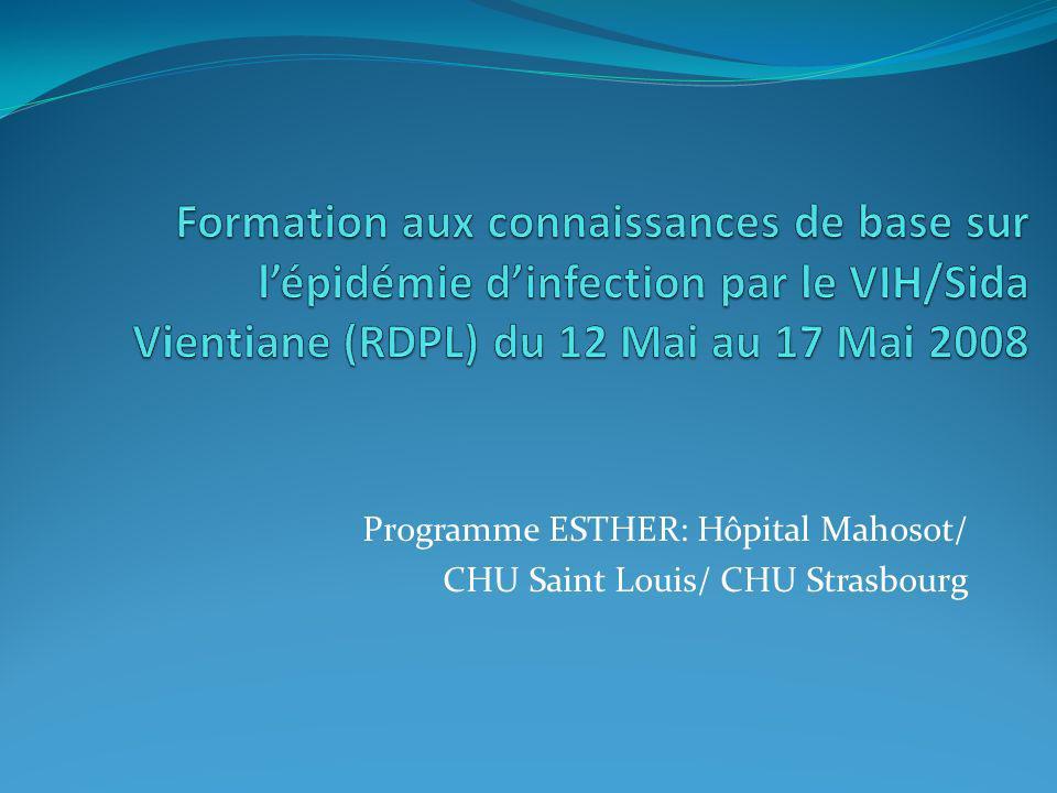 Programme ESTHER: Hôpital Mahosot/ CHU Saint Louis/ CHU Strasbourg