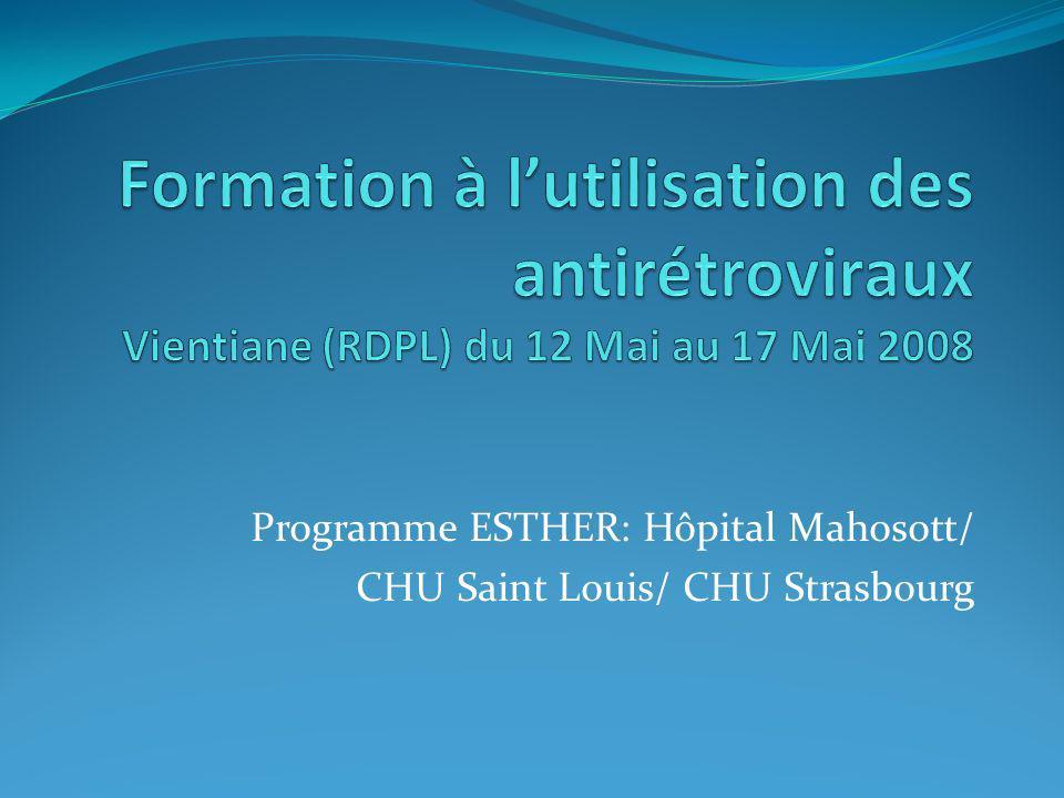 Programme ESTHER: Hôpital Mahosott/ CHU Saint Louis/ CHU Strasbourg