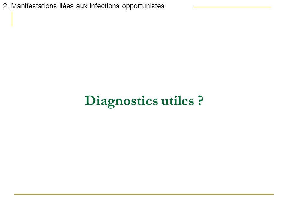 Diagnostics utiles ? 2. Manifestations liées aux infections opportunistes