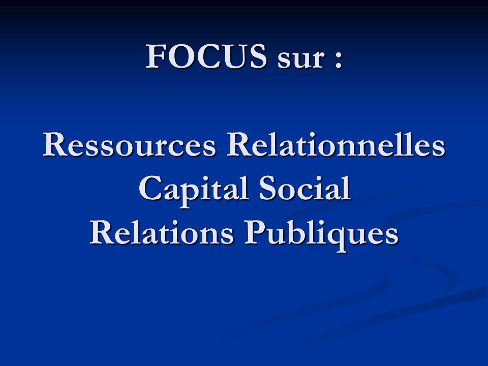 Relations Publiques .