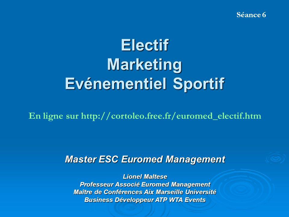 Electif Marketing Evénementiel Sportif Master ESC Euromed Management Lionel Maltese Professeur Associé Euromed Management Maître de Conférences Aix Ma