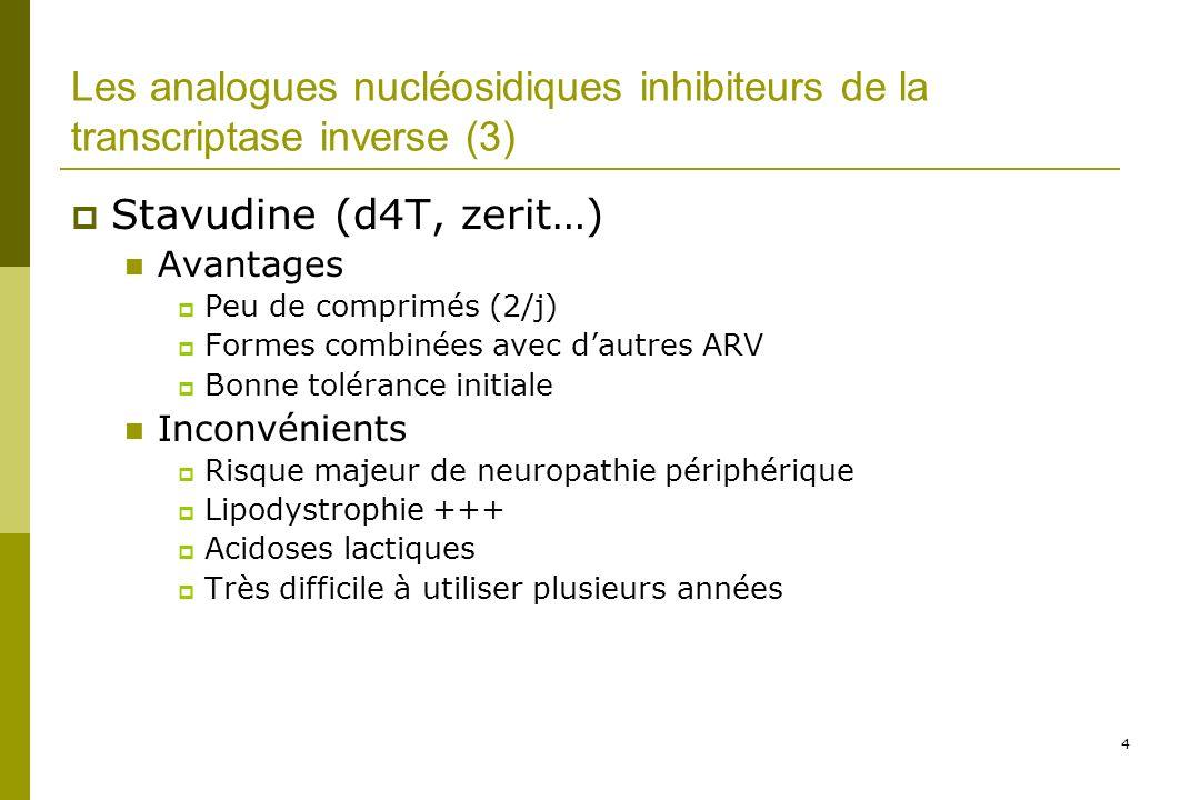 35 Troubles digestifs « mineurs » (1) Corrélés à l observance et donc à l efficacité… Diarrhée, Nausées = les IP, surtout: nelfinavir (30%) Amprénavir (30%) lopinavir (30%)