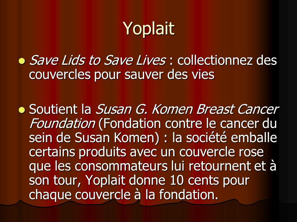 Yoplait Save Lids to Save Lives : collectionnez des couvercles pour sauver des vies Save Lids to Save Lives : collectionnez des couvercles pour sauver des vies Soutient la Susan G.
