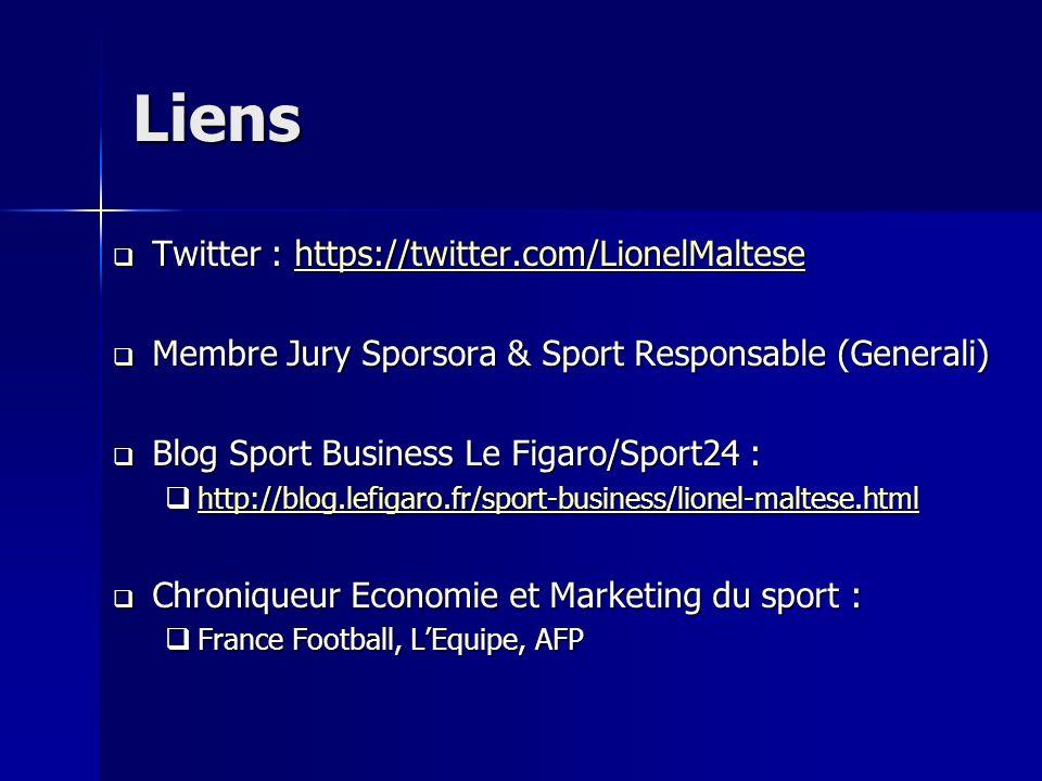 Liens Twitter : https://twitter.com/LionelMaltese Twitter : https://twitter.com/LionelMaltesehttps://twitter.com/LionelMaltese Membre Jury Sporsora &