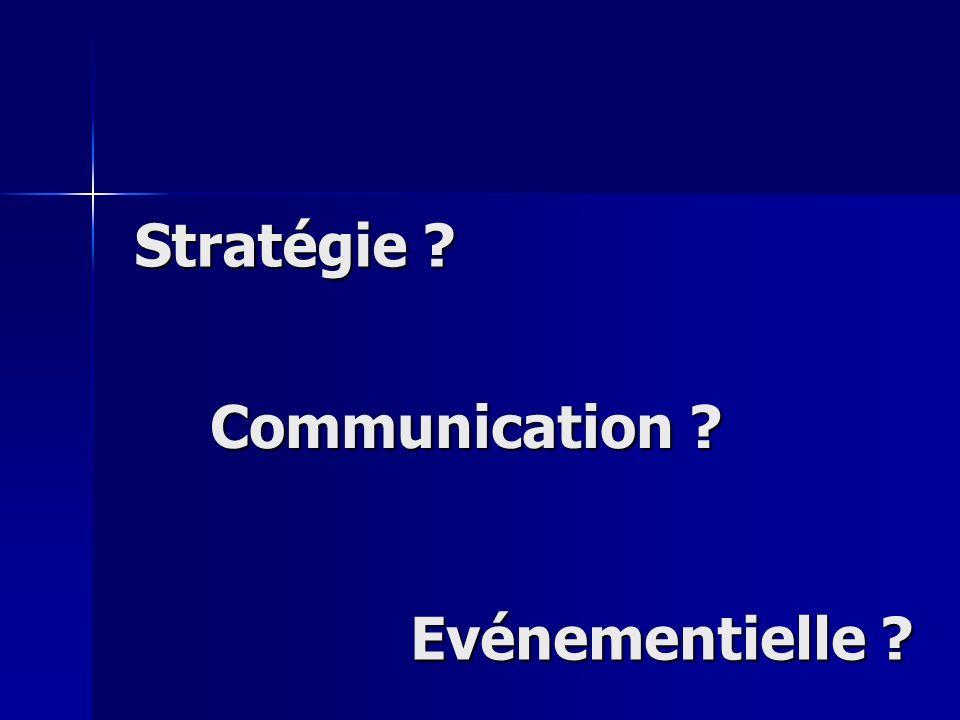 Stratégie ? Communication ? Evénementielle ?