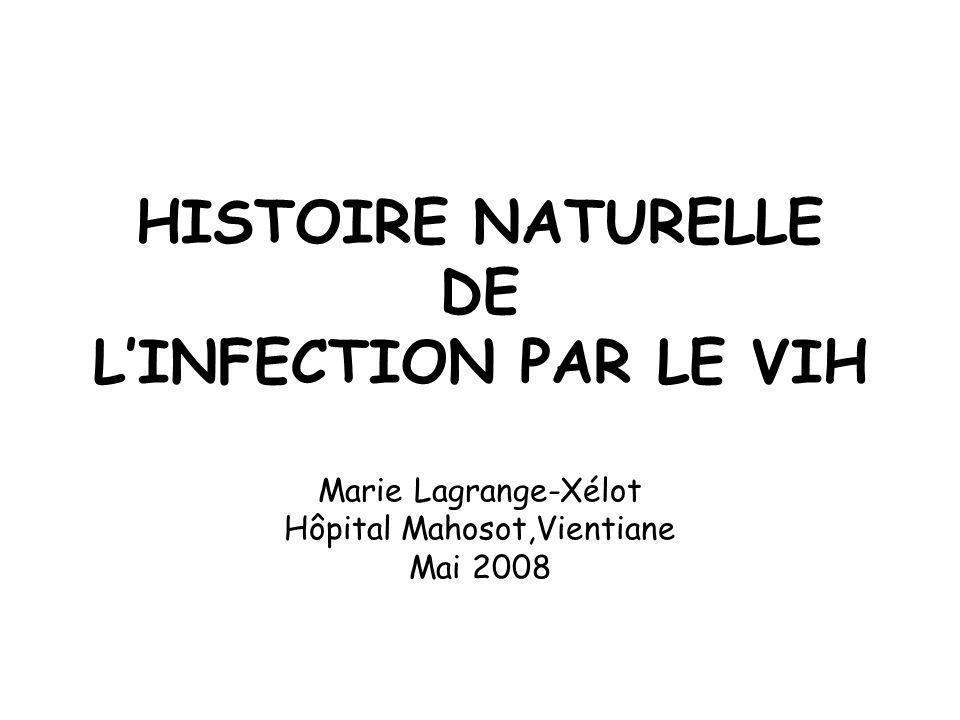 HISTOIRE NATURELLE DE LINFECTION PAR LE VIH Marie Lagrange-Xélot Hôpital Mahosot,Vientiane Mai 2008