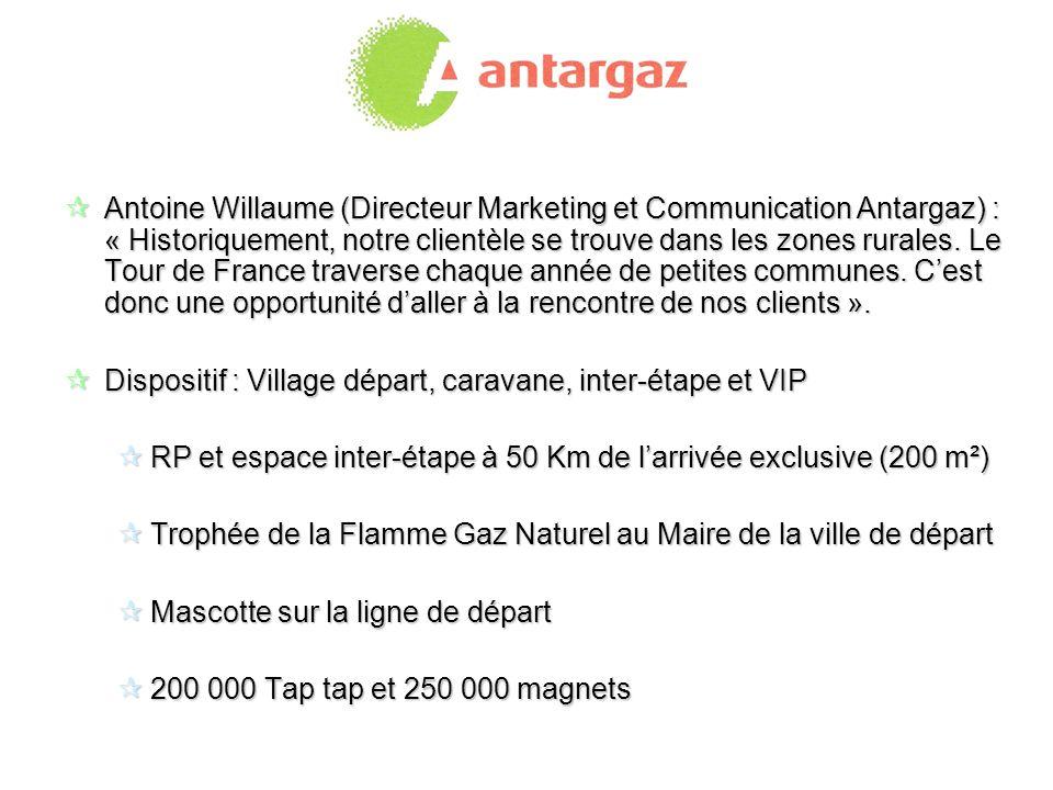 Antoine Willaume (Directeur Marketing et Communication Antargaz) : « Historiquement, notre clientèle se trouve dans les zones rurales. Le Tour de Fran