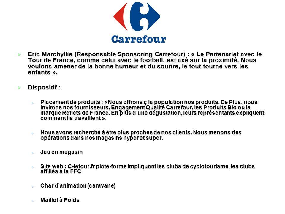 Eric Marchyllie (Responsable Sponsoring Carrefour) : « Le Partenariat avec le Tour de France, comme celui avec le football, est axé sur la proximité.