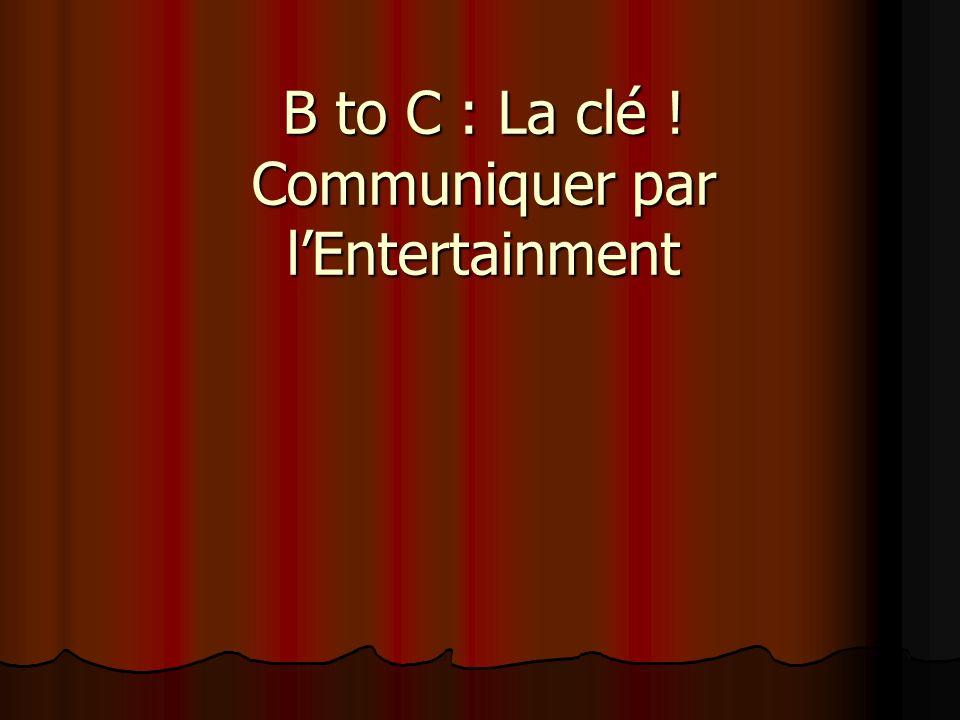 B to C : La clé ! Communiquer par lEntertainment