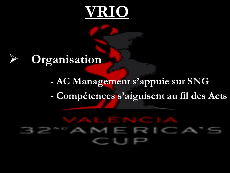Organisation VRIO - AC Management sappuie sur SNG - Compétences saiguisent au fil des Acts