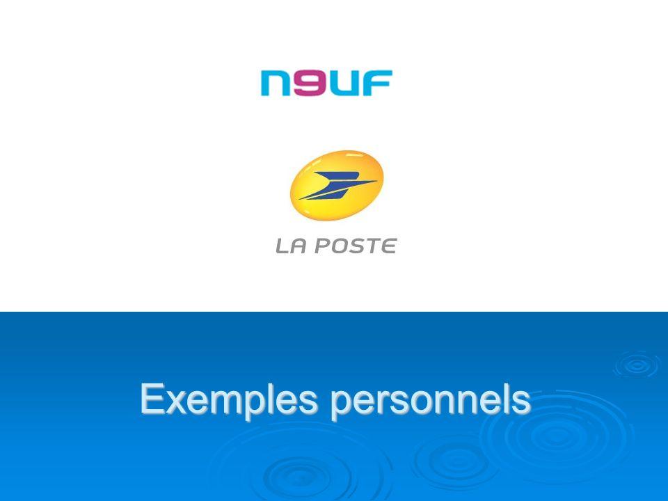 Exemples personnels