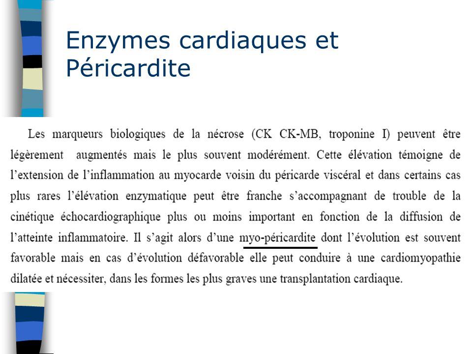 Enzymes cardiaques et Péricardite