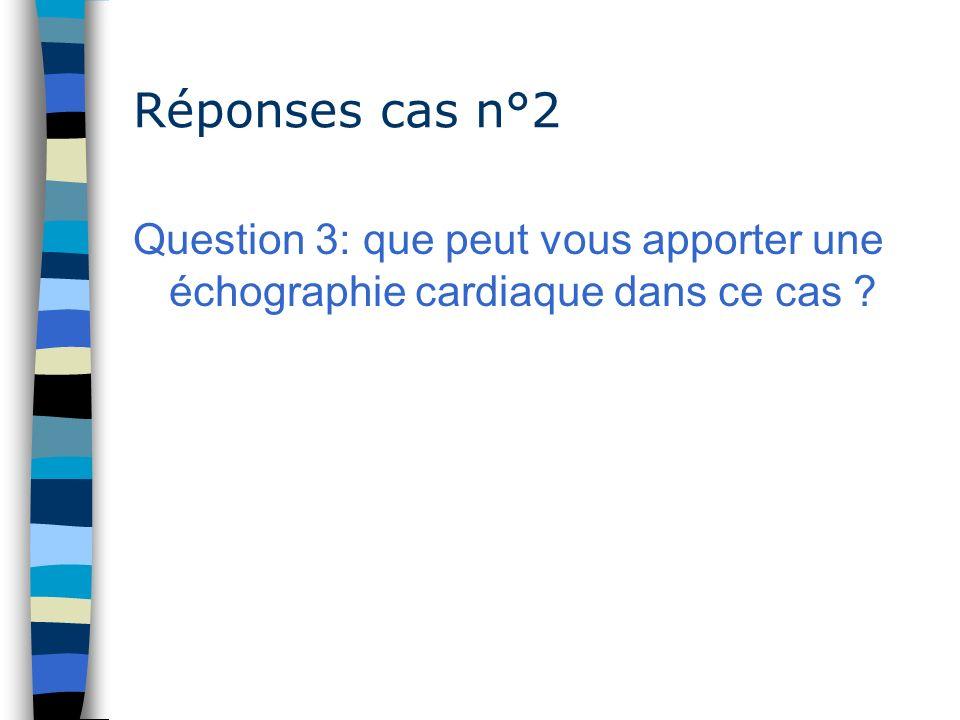 Réponses cas n°2 Question 3: que peut vous apporter une échographie cardiaque dans ce cas ?