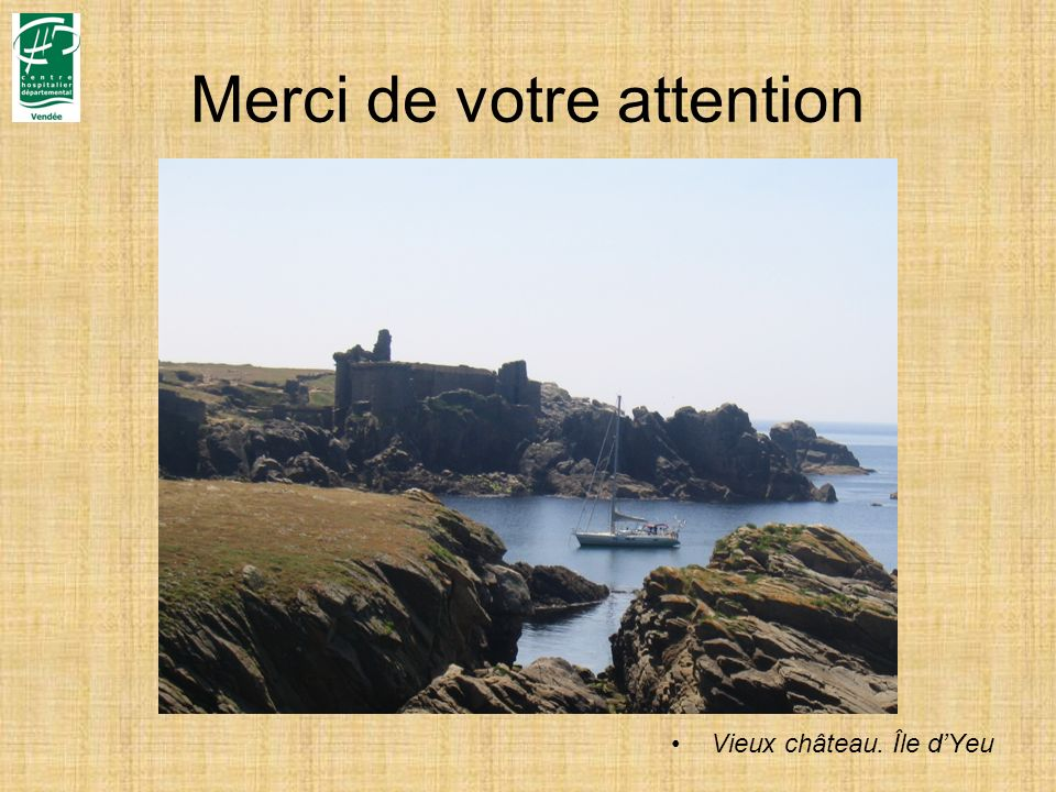 Merci de votre attention Vieux château. Île dYeu