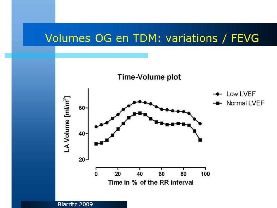 Biarritz 2009 Volumes OG en TDM: variations / FEVG