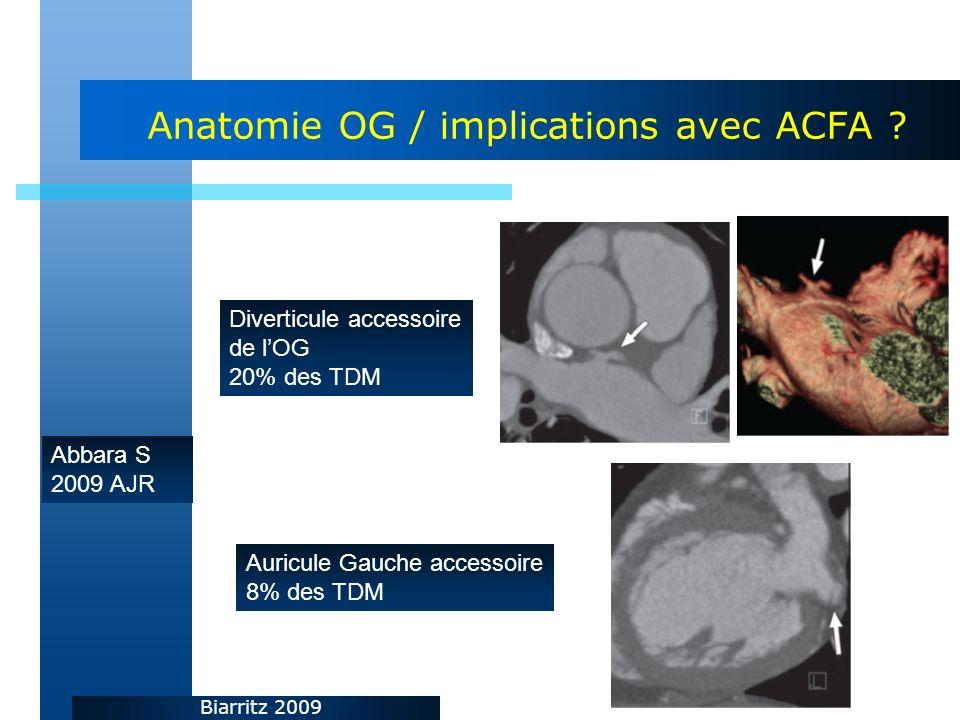 Biarritz 2009 Anatomie OG / implications avec ACFA .