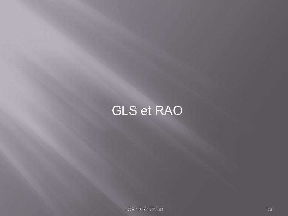 GLS et RAO 39JCP 19 Sep 2009