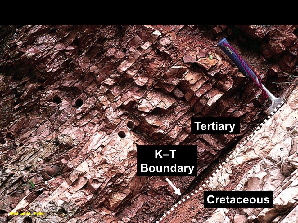 Michael M. Follo Cretaceous-Tertiary Boundary K–T Boundary Cretaceous Tertiary