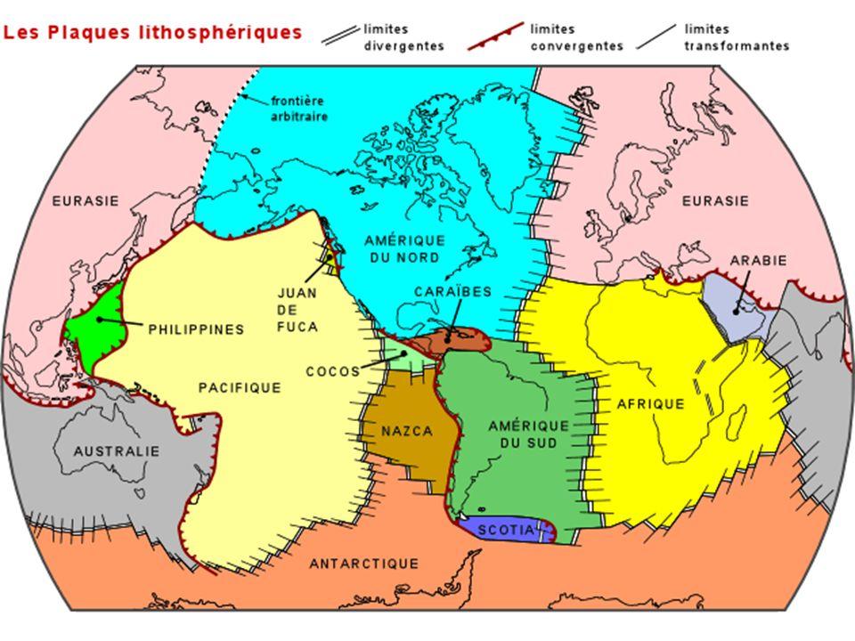 Trois types de limite de plaque Rides ou rift Zones de subduction Failles transformantes