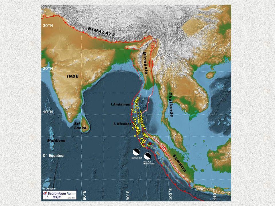 Carte localisation séisme + aftershocks