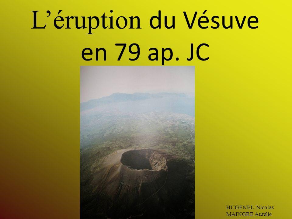 Léruption du Vésuve en 79 ap. JC HUGENEL Nicolas MAINGRE Aurélie