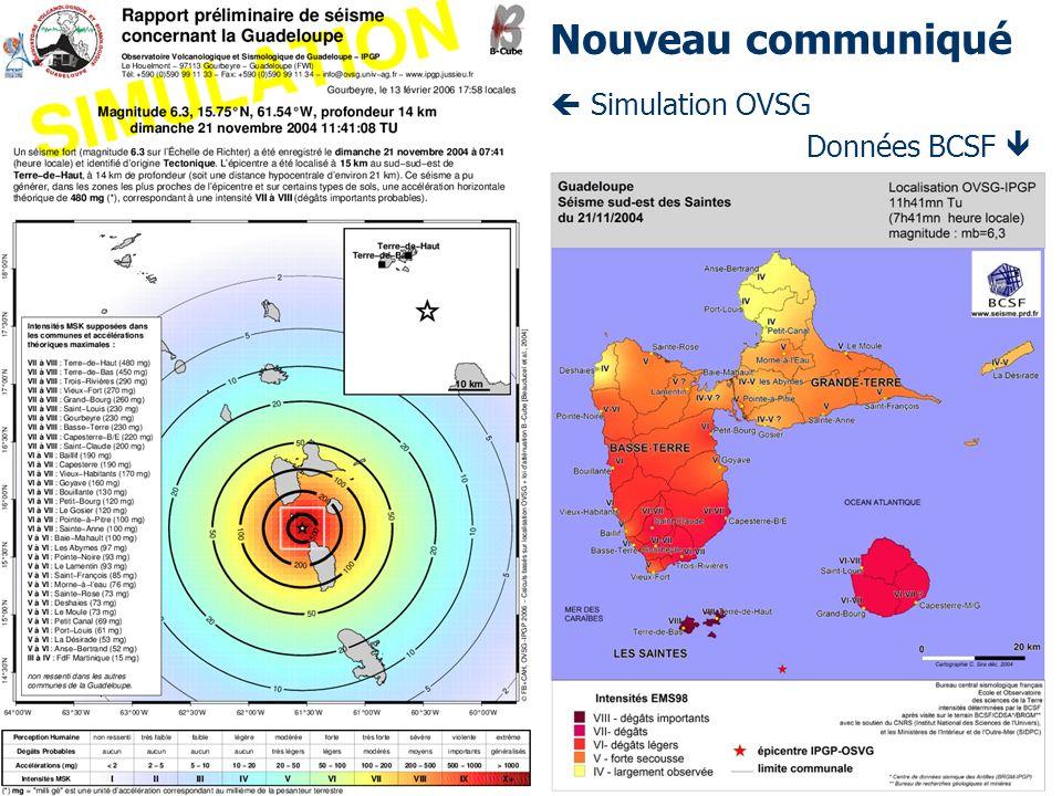 Simulation OVSG Données BCSF Nouveau communiqué