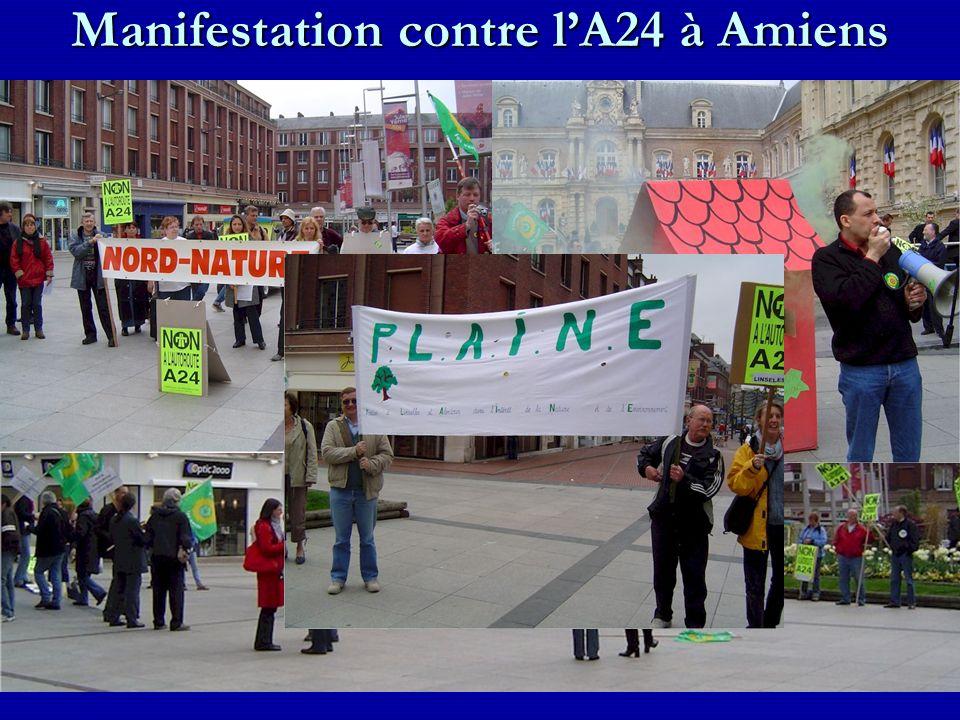 Manifestation contre lA24 à Amiens