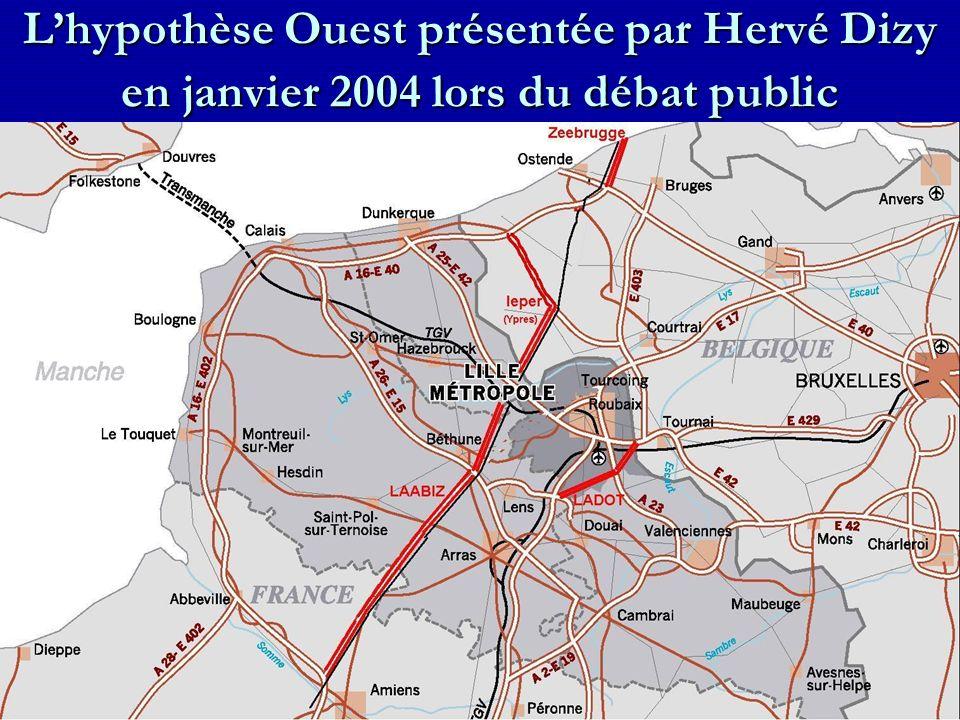 Lhypothèse Ouest présentée par Hervé Dizy en janvier 2004 lors du débat public