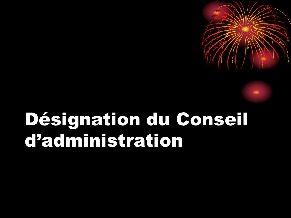 Désignation du Conseil dadministration