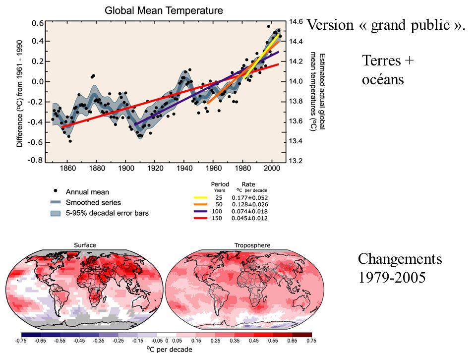 Changements 1979-2005 Terres + océans Version « grand public ».