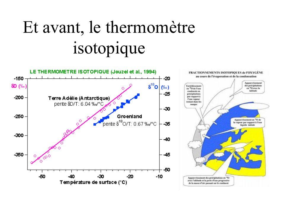 Et avant, le thermomètre isotopique