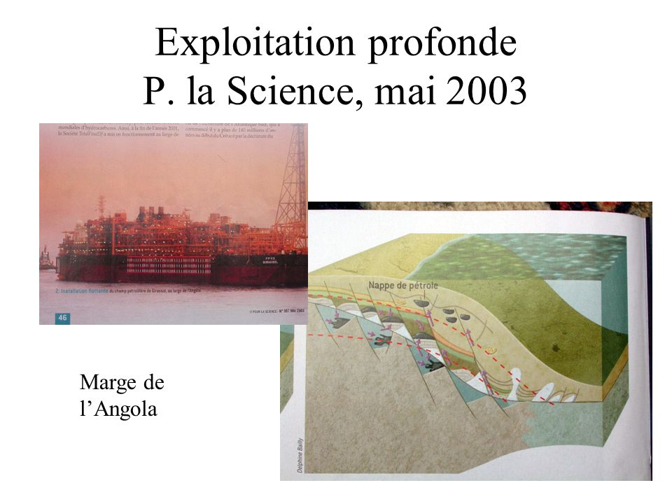 Exploitation profonde P. la Science, mai 2003 Marge de lAngola