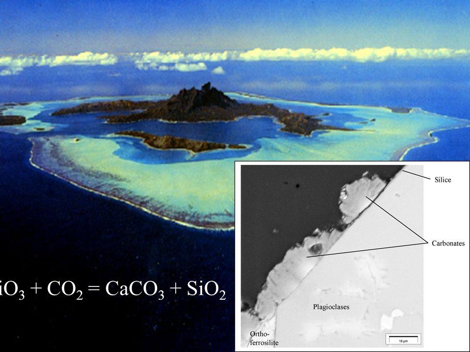 CaSiO 3 + CO 2 = CaCO 3 + SiO 2
