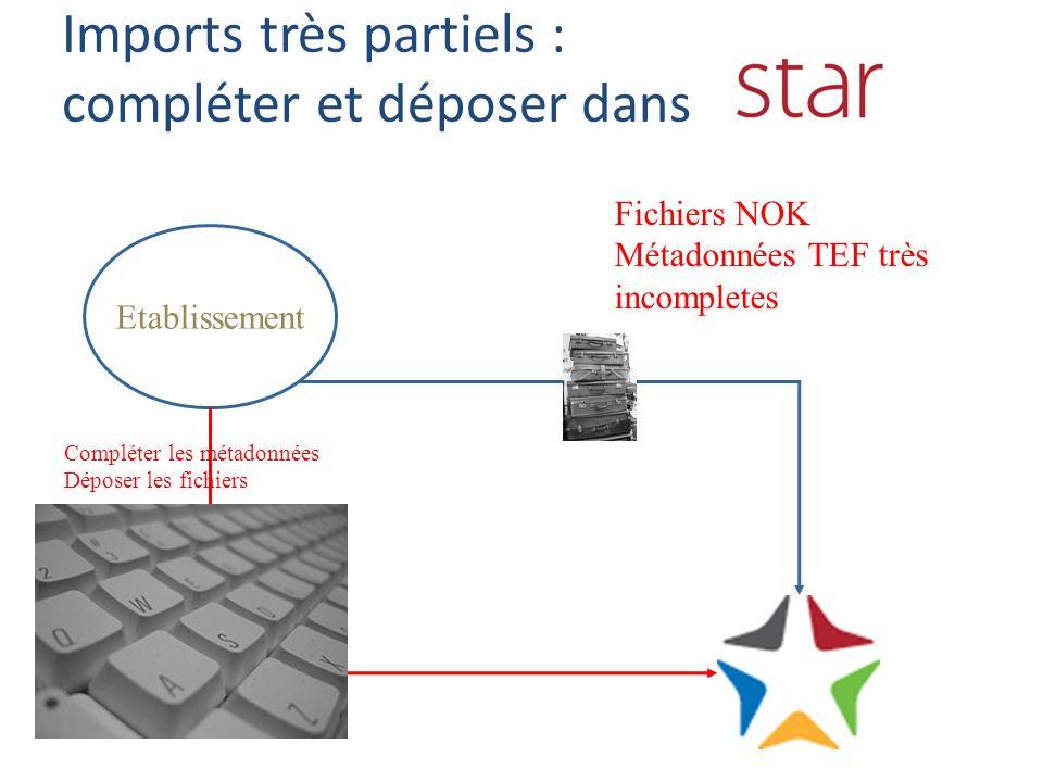 Importer du TEF Si vous ne savez pas faire du TEF Si votre système local exporte du tabulé (csv, xls…) ou du XML Des programmes sont à votre disposition dans le manuel STAR – Chaque établissement peut ré-utiliser les programmes de conversion proposés afin de les adapter à son propre export pour nenvoyer à STAR que du TEF