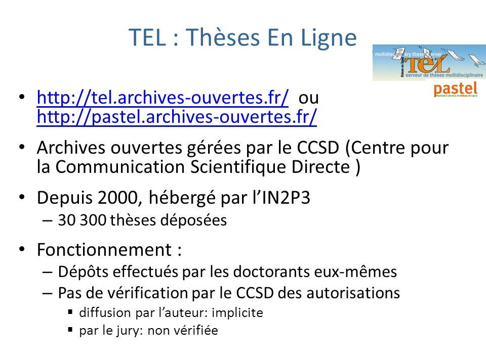 TEL : Thèses En Ligne http://tel.archives-ouvertes.fr/ ou http://pastel.archives-ouvertes.fr/ http://tel.archives-ouvertes.fr/ http://pastel.archives-