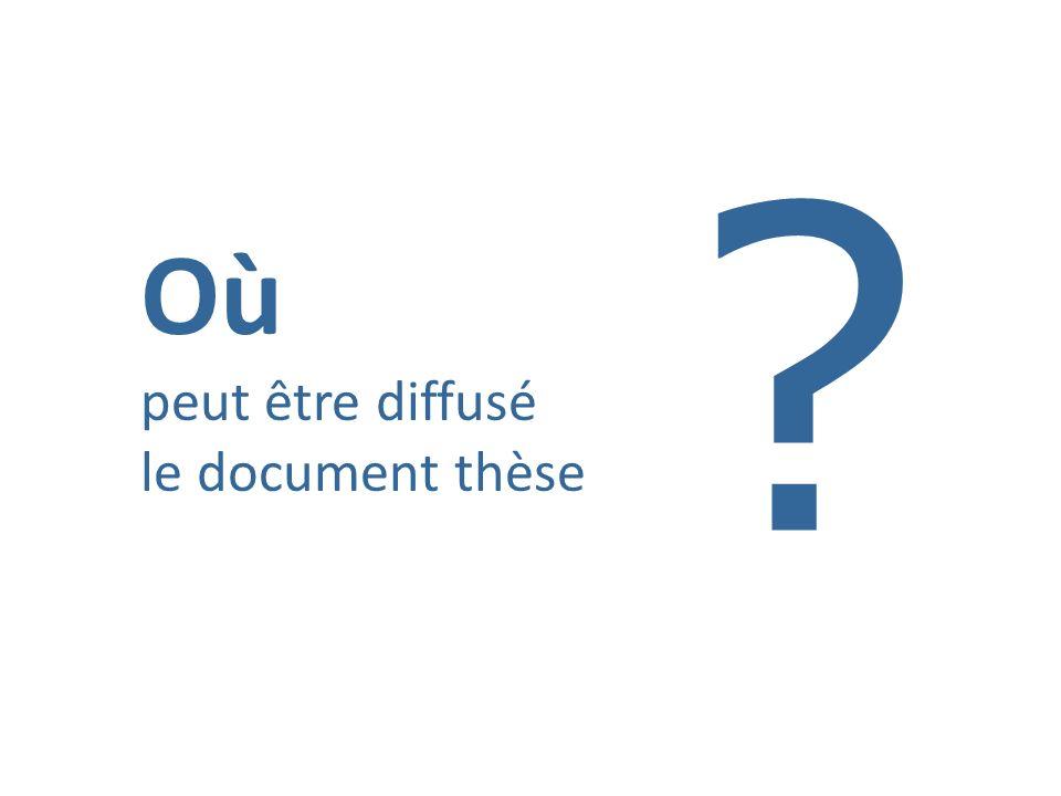 Où peut être diffusé le document thèse ?