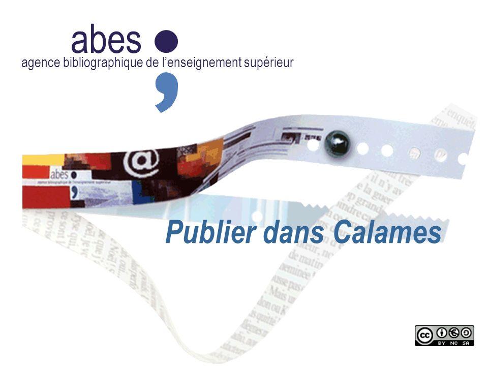 abes agence bibliographique de lenseignement supérieur Publier dans Calames