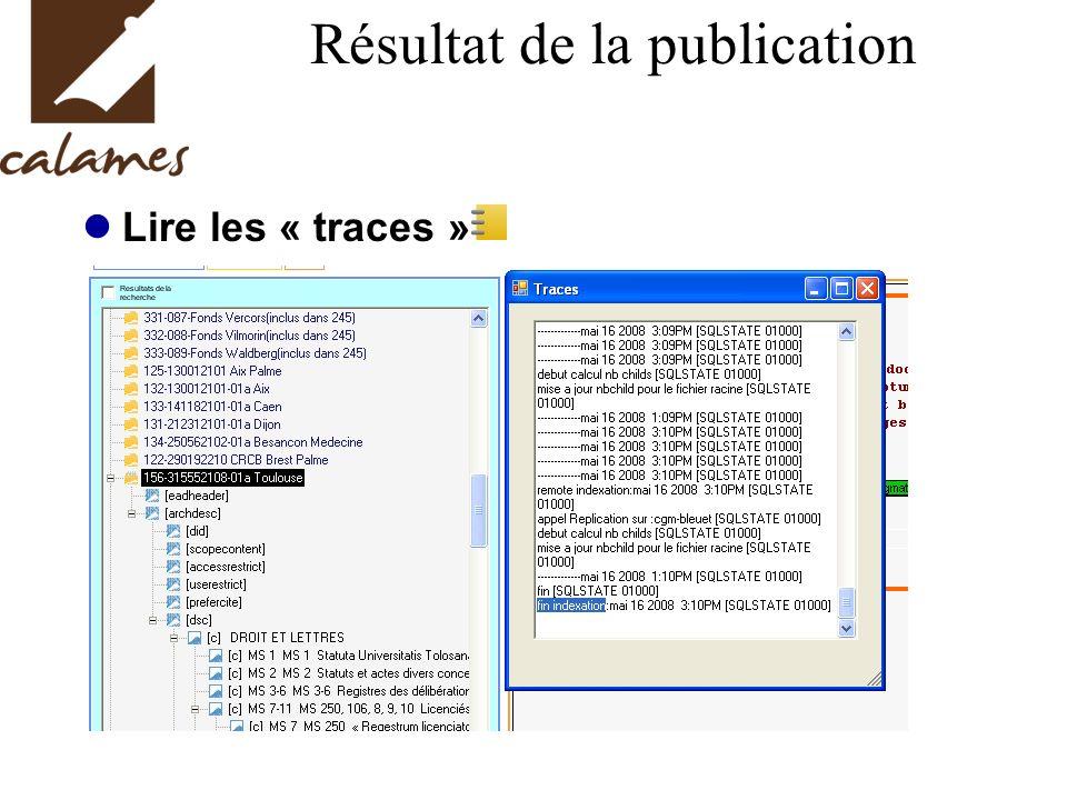 Résultat de la publication Lire les « traces »
