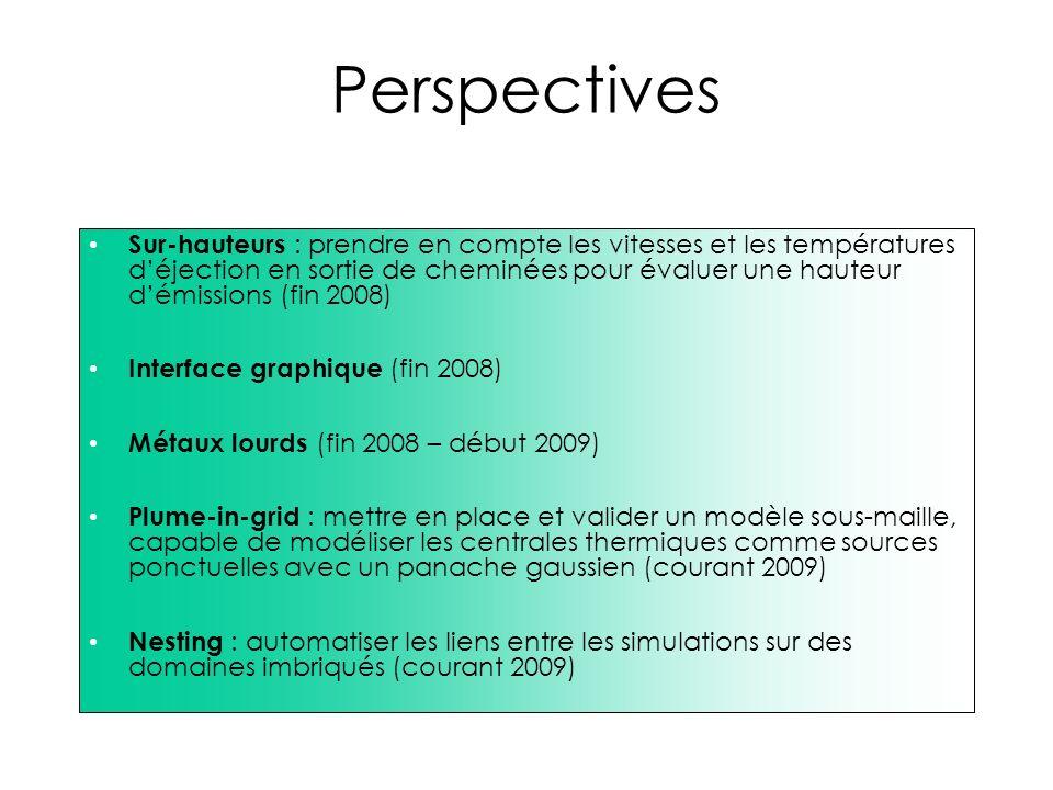 Perspectives Sur-hauteurs : prendre en compte les vitesses et les températures déjection en sortie de cheminées pour évaluer une hauteur démissions (f