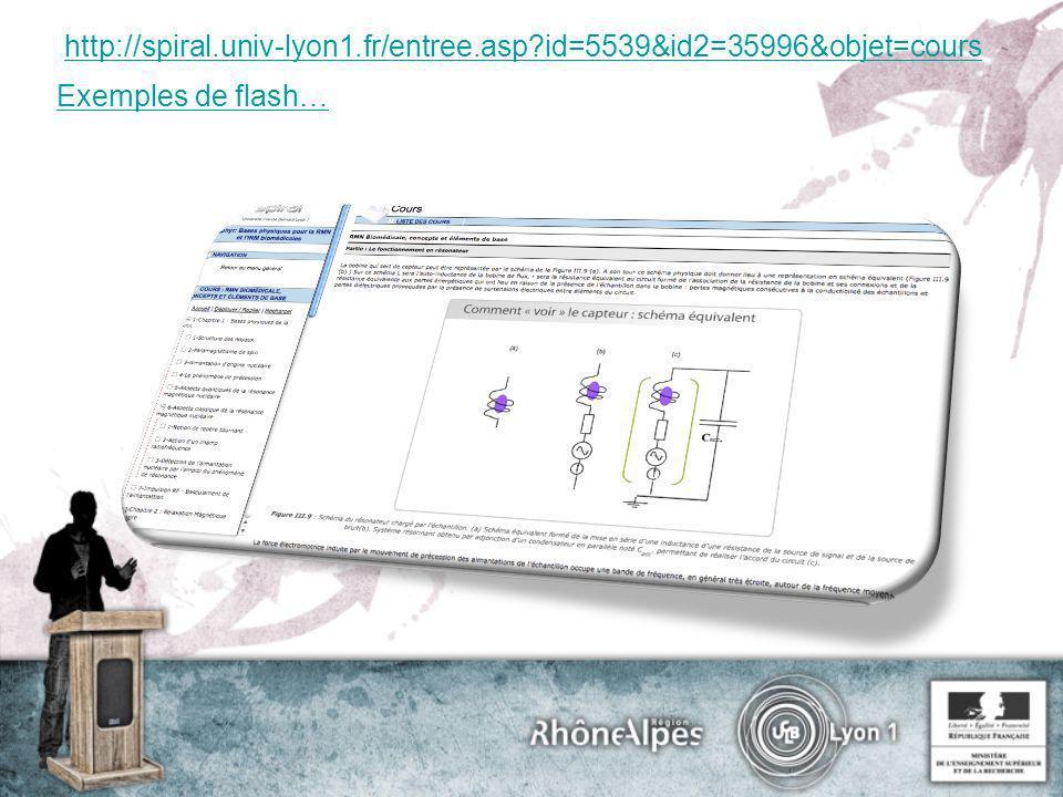 http://spiral.univ-lyon1.fr/entree.asp?id=5539&id2=35996&objet=cours Exemples de flash…