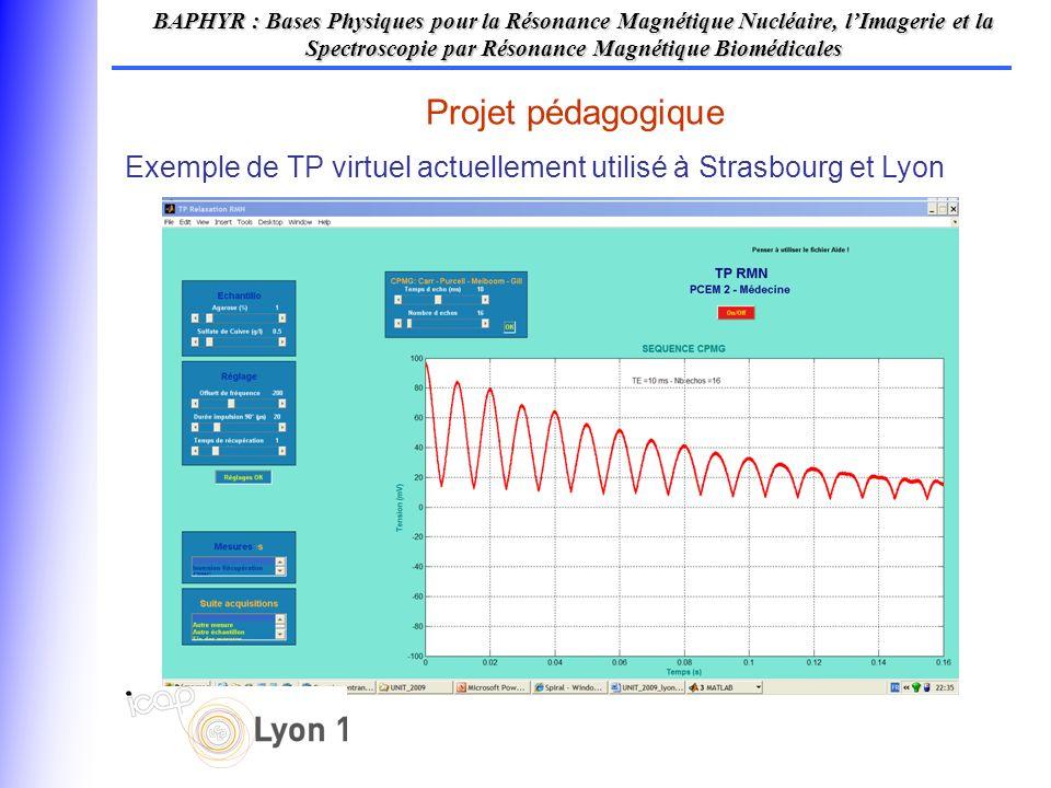 Projet pédagogique BAPHYR : Bases Physiques pour la Résonance Magnétique Nucléaire, lImagerie et la Spectroscopie par Résonance Magnétique Biomédicale