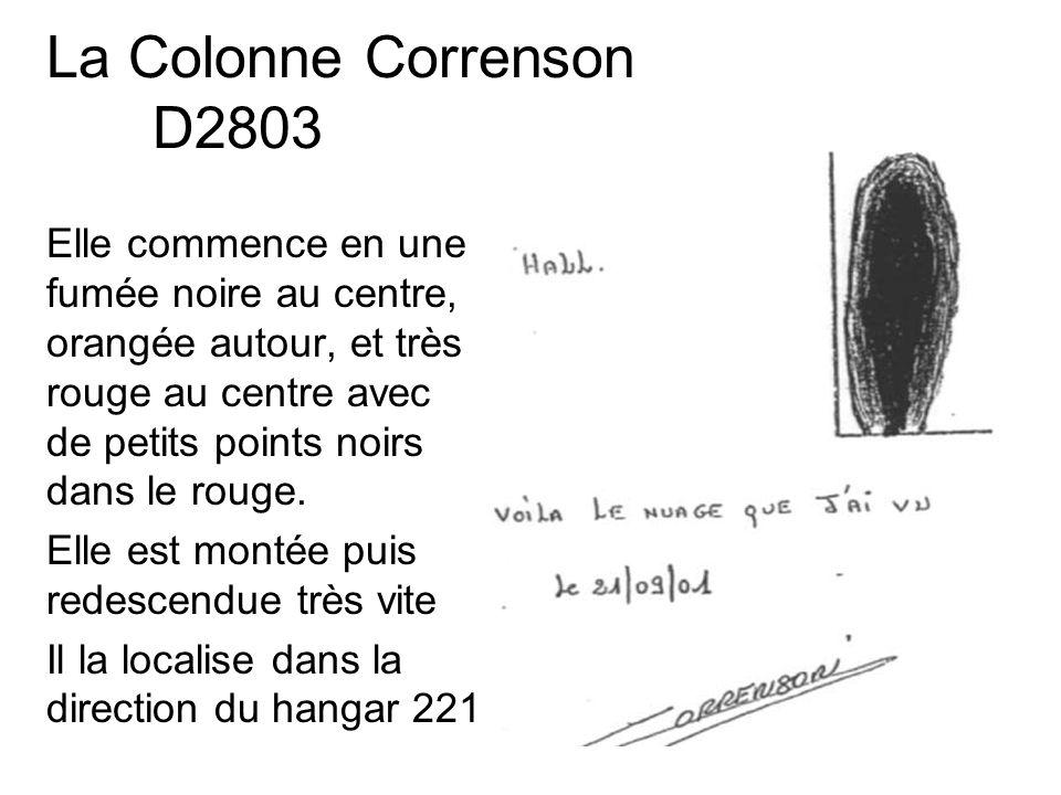 La Colonne Correnson D2803 Elle commence en une fumée noire au centre, orangée autour, et très rouge au centre avec de petits points noirs dans le rou