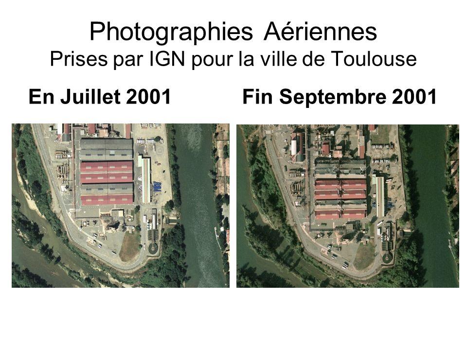Photographies Aériennes Prises par IGN pour la ville de Toulouse En Juillet 2001Fin Septembre 2001