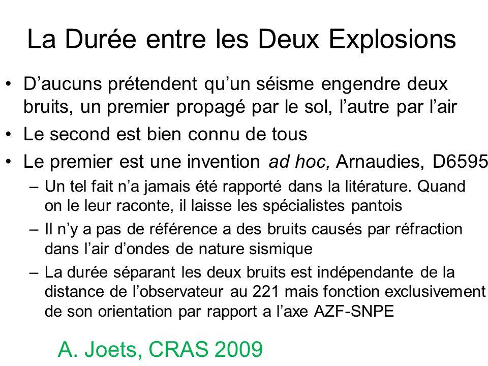 La Durée entre les Deux Explosions Daucuns prétendent quun séisme engendre deux bruits, un premier propagé par le sol, lautre par lair Le second est b