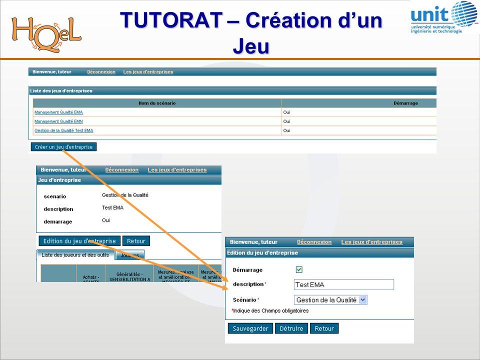 TUTORAT – Création dun Jeu