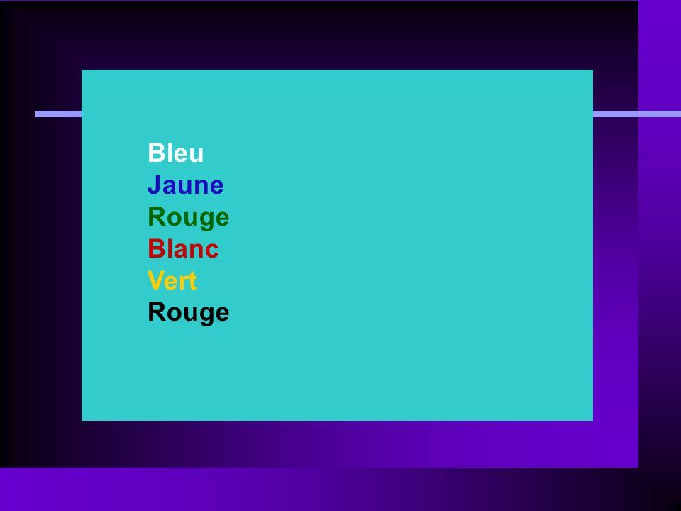 Bleu Jaune Rouge Blanc Vert Rouge