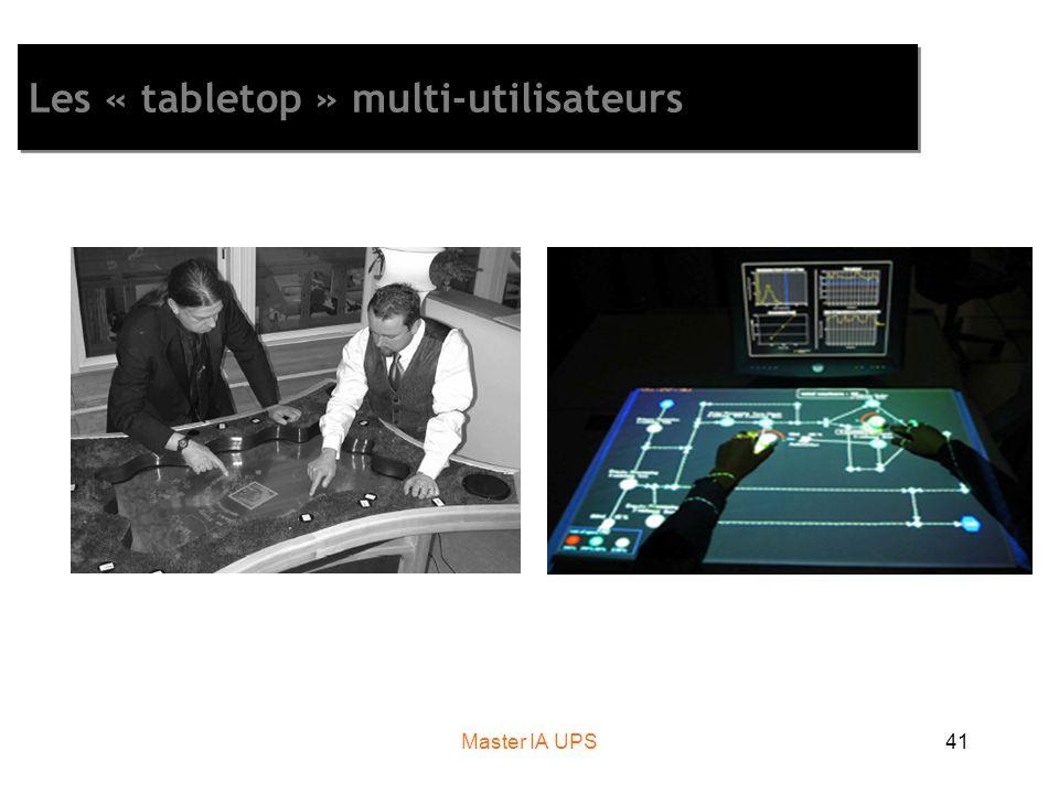 Master IA UPS41 Les « tabletop » multi-utilisateurs