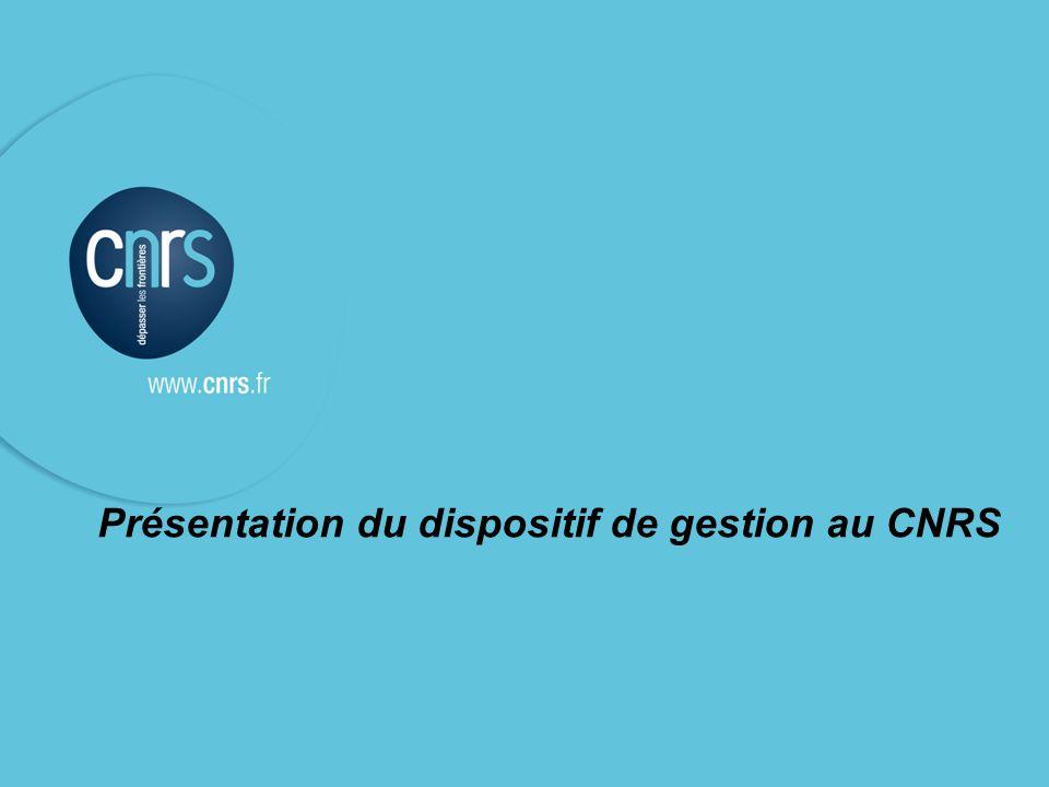 P. 1 Intervenant l Présentation du dispositif de gestion au CNRS